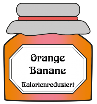 Orange/Banane - kalorienreduziert
